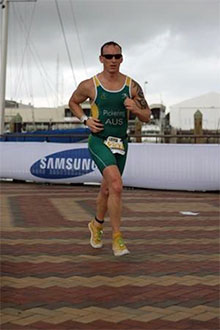 Representing Australia at the World Triathlon Championships in Auckland in 2012